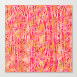 Orange Wood Print Canvas Print