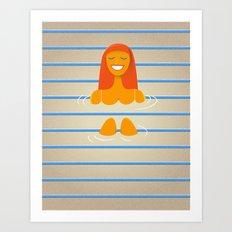 Carpet swimmer Art Print
