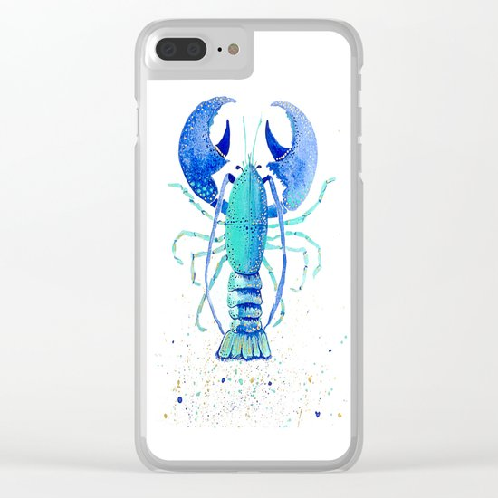 Neptune's Lobster Clear iPhone Case