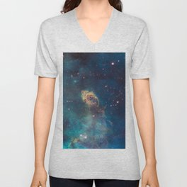 Space Nebula, A View of Astronomy, Stars, Galaxy, and Outer space  Unisex V-Neck