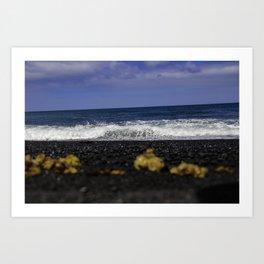 Black Stones Lanzarote Art Print