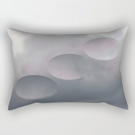 Pink Tilt Shift Ovals Rectangular Pillow