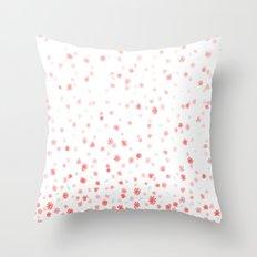 Falling Flowers Throw Pillow