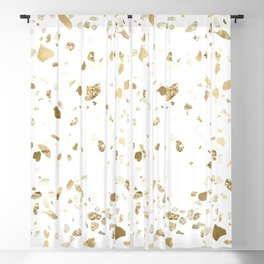 Metallic Gold Terrazzo Sparkle Blackout Curtain