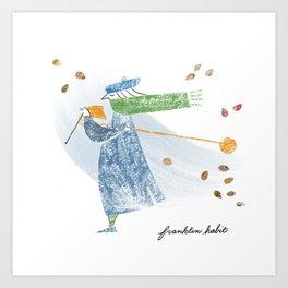 Autumn Knitter Art Print