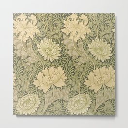 Chrysanthemum by William Morris 1877 Antique Vintage Pattern CC0 Spring Summer Metal Print