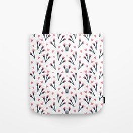 Modern Lovely Flower Pattern Art Tote Bag