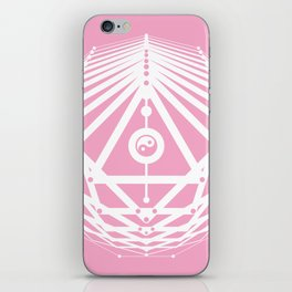 Radiant Abundance (pink-white) iPhone Skin