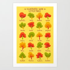 An Illustrated Guide To Little Trees Art Print