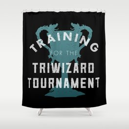 Training: Triwizard  Cup Shower Curtain