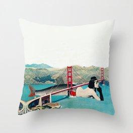 Mermaid Three Throw Pillow