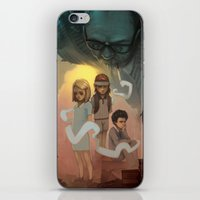 wes anderson iPhone & iPod Skins featuring Wes Andersons - A Bad Dad by Dave Greco