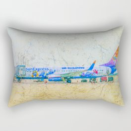 SunExpress Boeing 737-800. The smurfs..... the lost village Rectangular Pillow