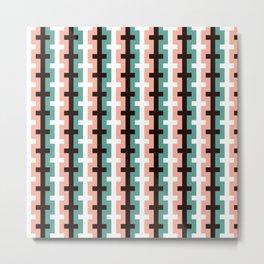 Geometric Pattern #187 (pink olive) Metal Print
