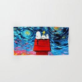 snoopy peanuts starry night Hand & Bath Towel