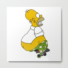 open pants simpson Metal Print