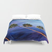 palms Duvet Covers featuring Palms by Psocy Shop