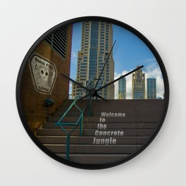 Welcome To The Concrete Jungle Wall Clock