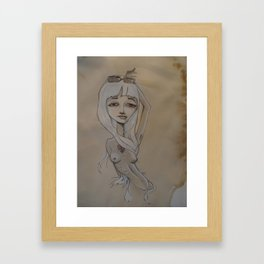 God-made man-made femme fatalist Framed Art Print