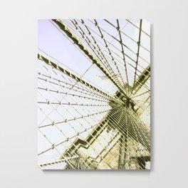 Waving Flag Metal Print