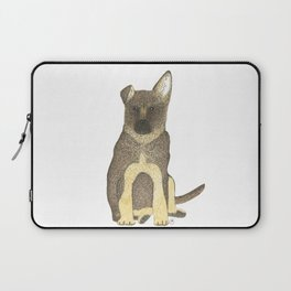 """Blue"" the German Shepherd Dog (GSD) Puppy Laptop Sleeve"