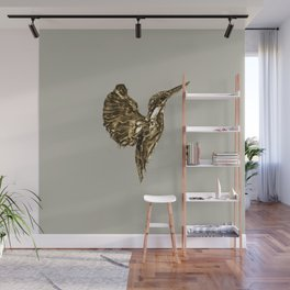 Golden Kingfisher Wall Mural