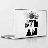 font Laptop & iPad Skins featuring Bob Dylan Font Sunglasses by Fligo