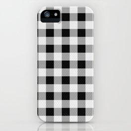 TARTAN GINGHAM CHECKERED GREY / BLACK iPhone Case