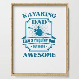 Kayaking Dad Serving Tray