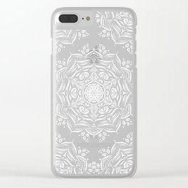 Lotus and Blush Clear iPhone Case