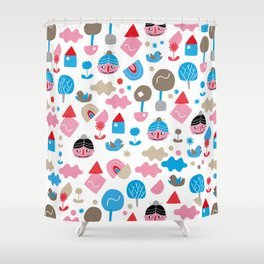 Fredrick n' friends holiday time Shower Curtain