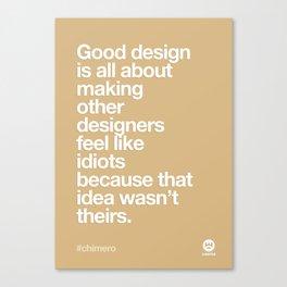 Design Quotes #4 Canvas Print