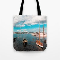 oslo Tote Bags featuring Oslo Boats by Léon