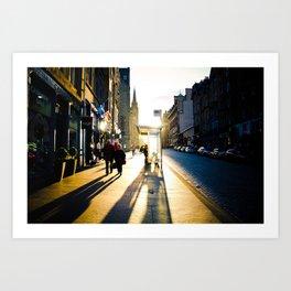 Royal Mile Sunset Art Print