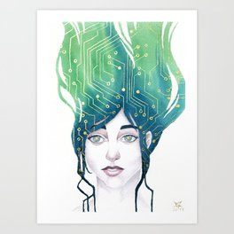 Mind Patterns II: Circuits Art Print