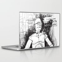 c3po Laptop & iPad Skins featuring C3PO by Samantha Chiusolo