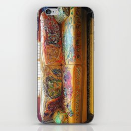 """""""Famous Late Night Painted Sofa"""" - nice, very old Italian Leather Sofa I painted. iPhone Skin"""