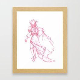 Kiss the girl Framed Art Print