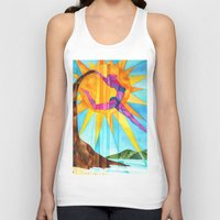 brand new Tank Tops featuring Brand New Day by Heather Torres Art