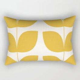 Mid Century Modern Leaves Yellow #society6 #buyart  Rectangular Pillow