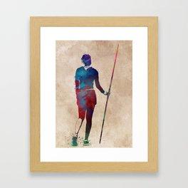 javelin throw #sport #javelinthrow Framed Art Print