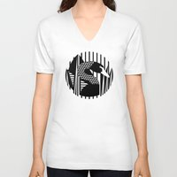 black swan V-neck T-shirts featuring black swan by Gray