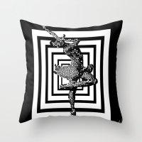 ballerina Throw Pillows featuring  Ballerina   by Saundra Myles