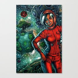 The Astronaut Canvas Print