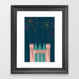 Princess Castle   Disney inspired Framed Art Print