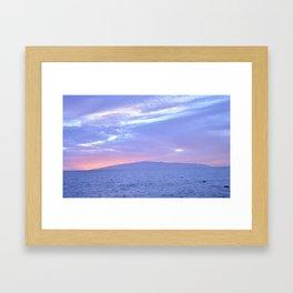 Rose Quartz and Serenity sunset. Framed Art Print