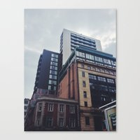 manchester Canvas Prints featuring Manchester  by Dave Hailes