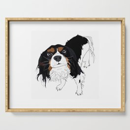 King Charles Cavalier Dog Serving Tray