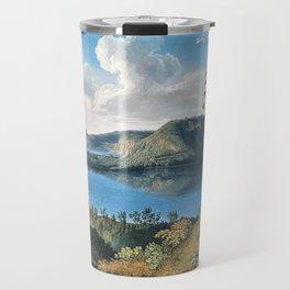 Crater Lake Avernus, Campania, Italy by Jacob Philipp Hackert Travel Mug