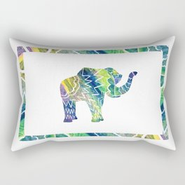 Patchwork Elephant Rectangular Pillow